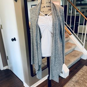 Express grey shark bite cardigan. Size large